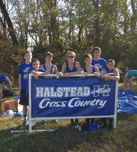 Halstead  boys cross country takes places first at Regionals!