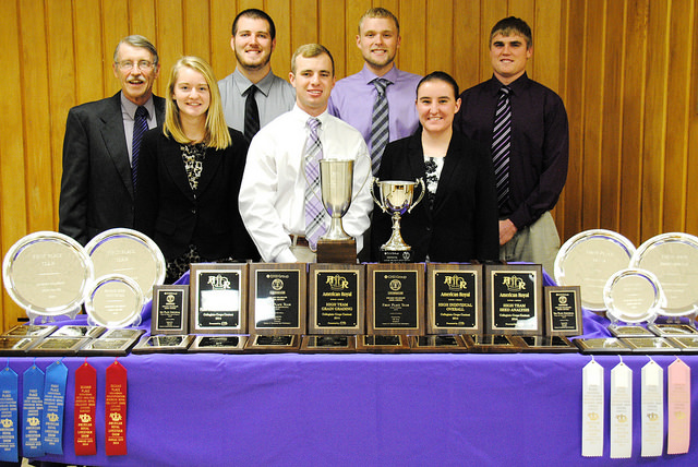 Kansas State University's Crops Team has claimed its sixth straight national championship. It has won the title 13 of the last 16 years. K-State's 2014 Collegiate Crops Team (l to r): Dr. Kevin Donnelly (coach), Samantha L'Ecuyer, Ben Coomes, Hayden Guetterman, Sam Knauss, Micheala Simmelink, Tyler Herrs