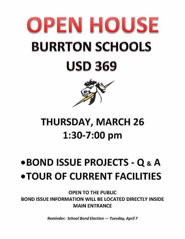Burrton School Bond Open House