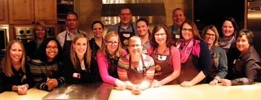 Bloggers, dieticians, and farmers prepared and enjoyed a meal together while sharing about their lives and discussing today's current farming practices. The group prepared and provided 300 meals to the Ronald McDonald Charities of Kansas City.