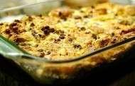 Artichoke, Mushroom and Goat Cheese Breakfast Casserole