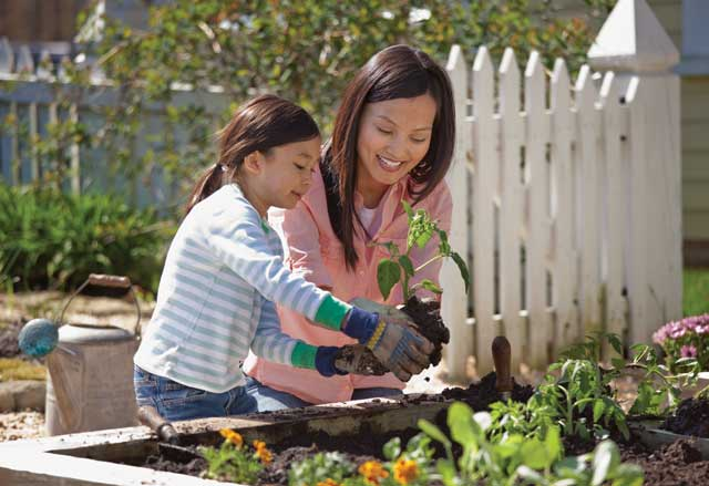 Gardening is a healthy activity for people of all ages