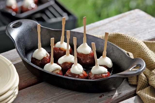 Fire Up the Grill with Barbecue Meatball Skewers