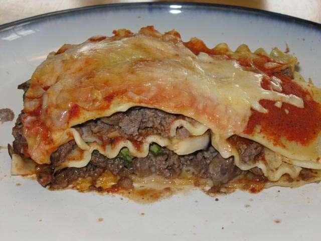 Cheesy 'venisony' lasagna