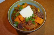 Bison heart stew
