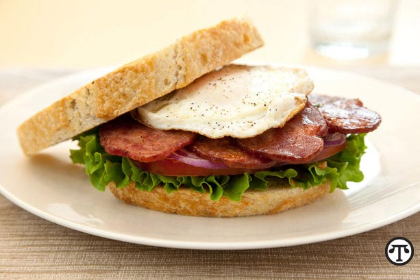 BLT with duck bacon