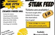 Andale Booster Club Steak Feed Tickets Available