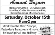 South Hutchinson: United Methodist will host their Annual Bazaar on October 15