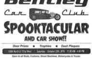 Bentley Car Show Spooktacular Scheduled for October 22