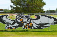 Garden Plain High School Owl mascot gets a new look thanks to Garden Plain Bank and its President