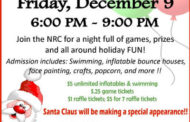 Family Fun Night at the Newton Recreation Center on Dec 9
