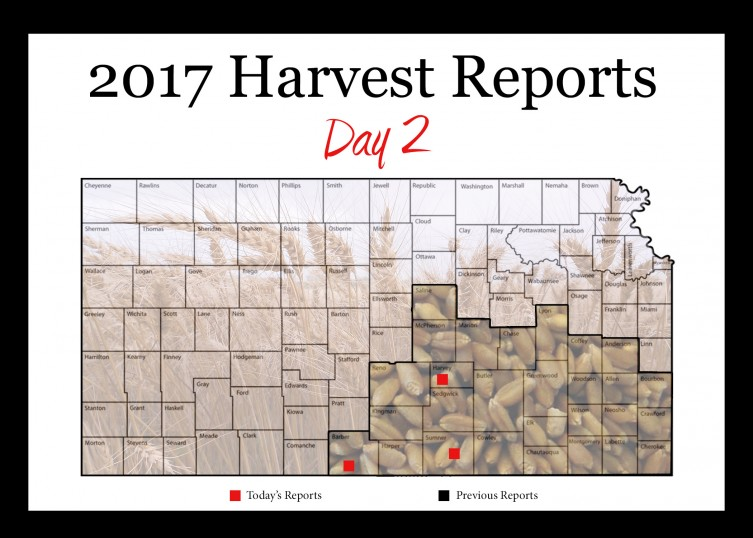 Day 2, Kansas Wheat Harvest Report