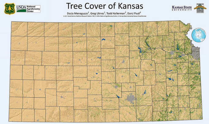 Kansas Forest Service completes rural tree canopy mapping