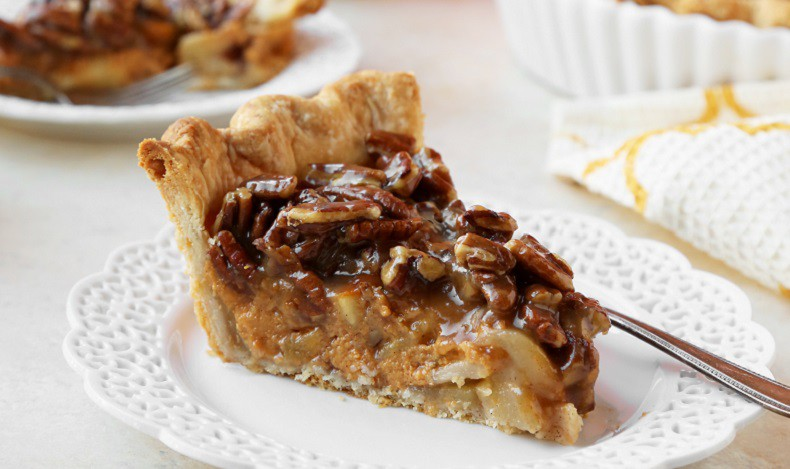 PECAN APPLE PUMPKIN PIE