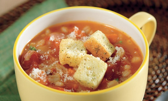 Slow Cooker Tomato-Barley Soup