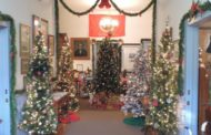 Most Unique Display Of Christmas Trees At Lecompton's Territorial Capital Museum