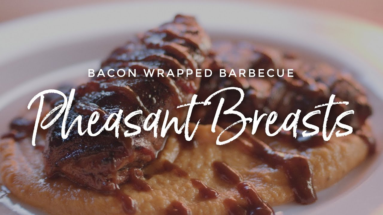Bacon Wrapped Barbecue Pheasant Breasts
