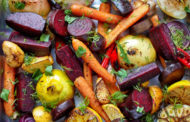 Roasted Root Vegetables with Lemon Honey Vinaigrette