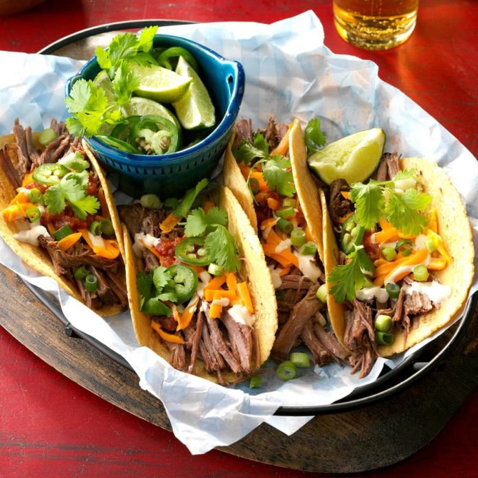 Brisket Tacos with Smoked Salsa