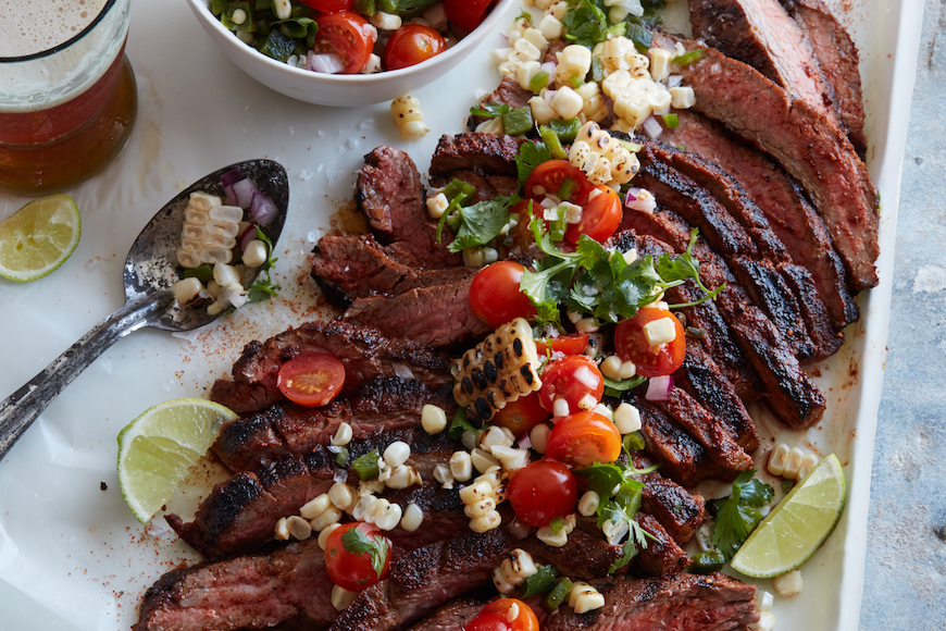 Chipotle Flank Steak and Smoked Slaw