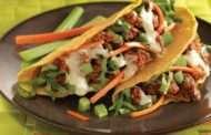 Buffalo Style Beef Tacos