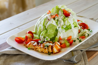 Buffalo Chicken Wedge Salad